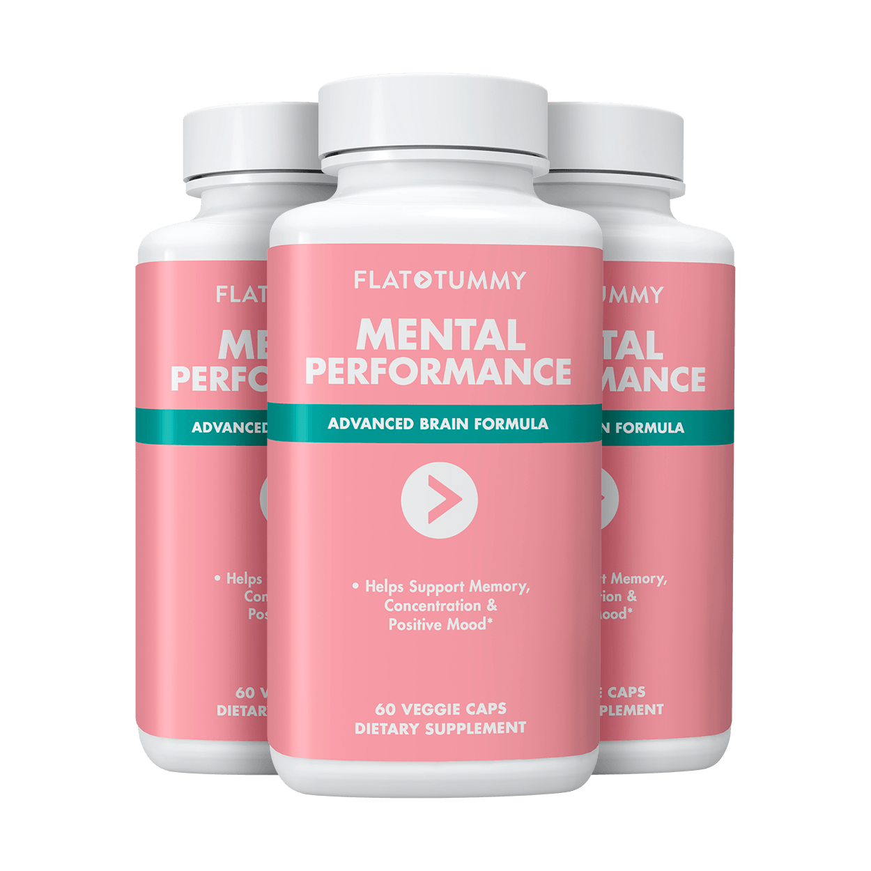 Flat Tummy Co Supplements 3 Bottles | ONLY $21.60 each Mental Performance
