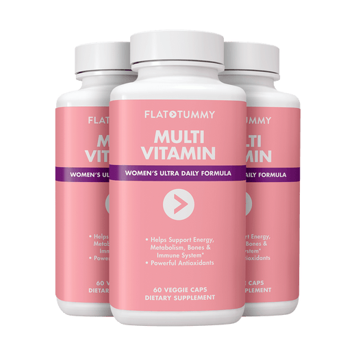 Flat Tummy Co Supplements 3 Bottles | ONLY $21.60 each Multivitamin