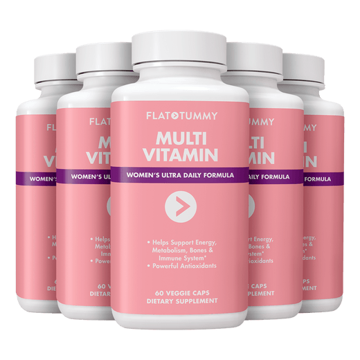Flat Tummy Co Supplements 5 Bottles | ONLY $19.80 each Multivitamin