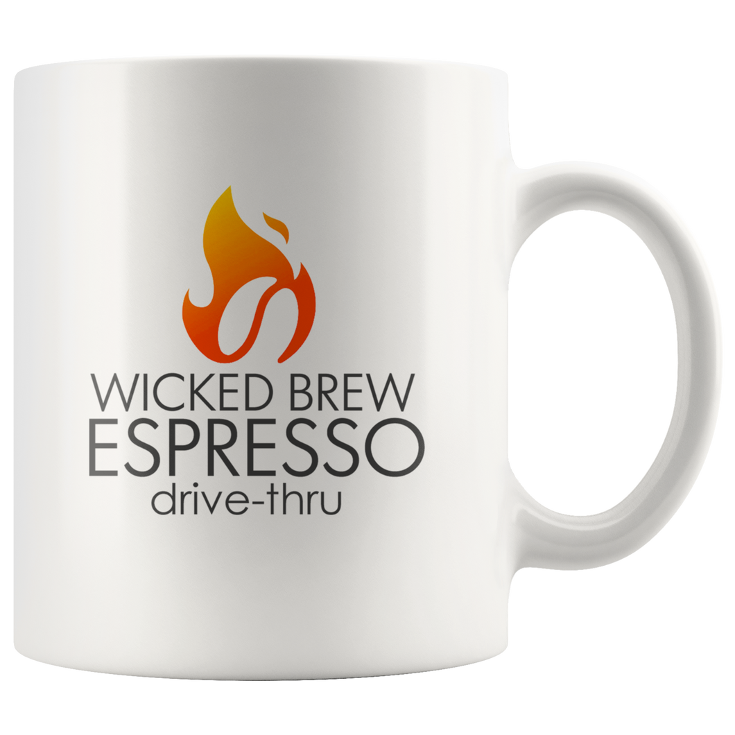 Wicked Brew Logo 11oz Mug