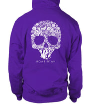 Load image into Gallery viewer, Wicked Brew Skully Gildan Zip-Up Hoodie