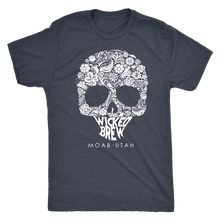 Load image into Gallery viewer, Mens Next Level Triblend Wicked Brew Skully T-Shirt