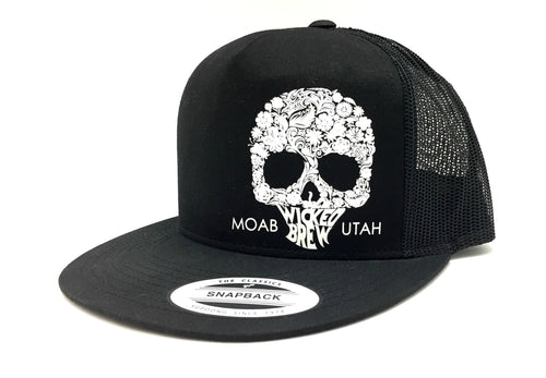 Wicked Brew Skully 6 Panel Snapback Hat