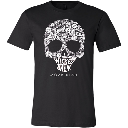 Mens Wicked Brew Skully Canvas T-Shirt