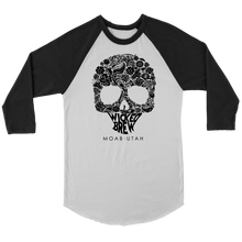 Load image into Gallery viewer, Unisex Canvas Wicked Brew Skully 3/4 Raglan Shirt