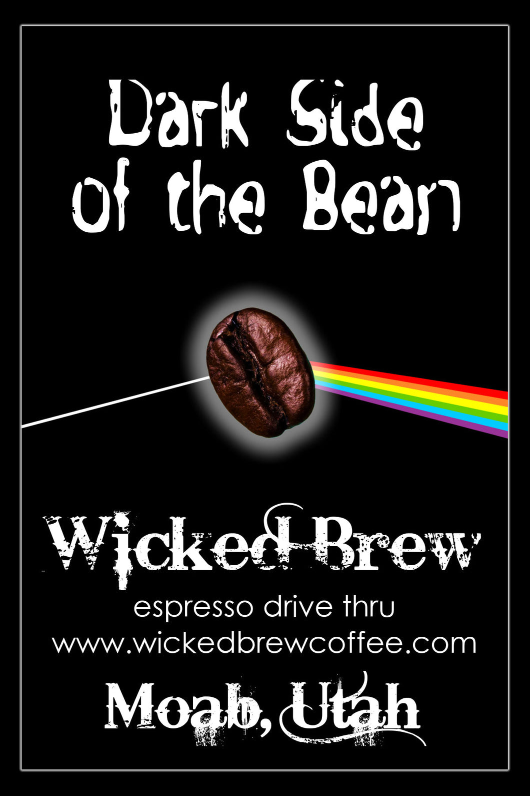 Dark Side of the Bean Sticker