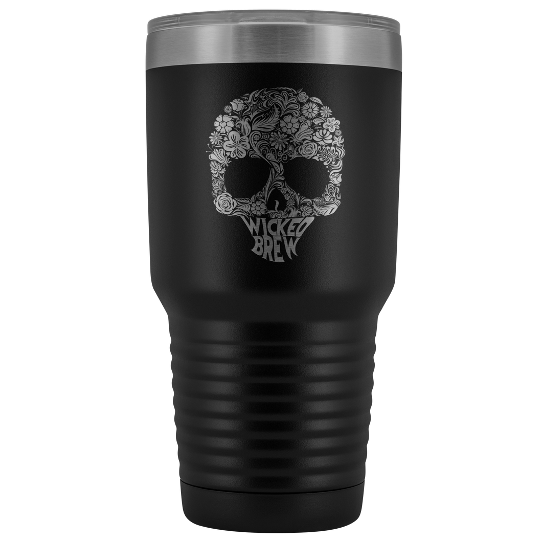 Wicked Brew Skully 30 Ounce Vacuum Tumbler