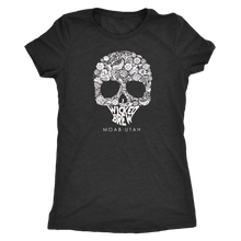 Load image into Gallery viewer, Womens Triblend Next Level Wicked Brew Skully Shirt