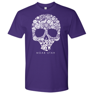 Mens Next Level Wicked Brew Skully T-Shirt