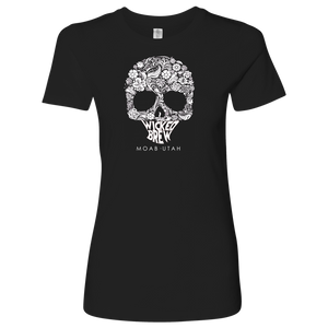 Womens Next Level Wicked Brew Skully Shirt