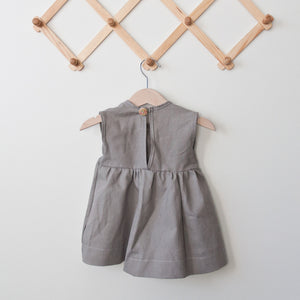 Grey Emery Linen Dress