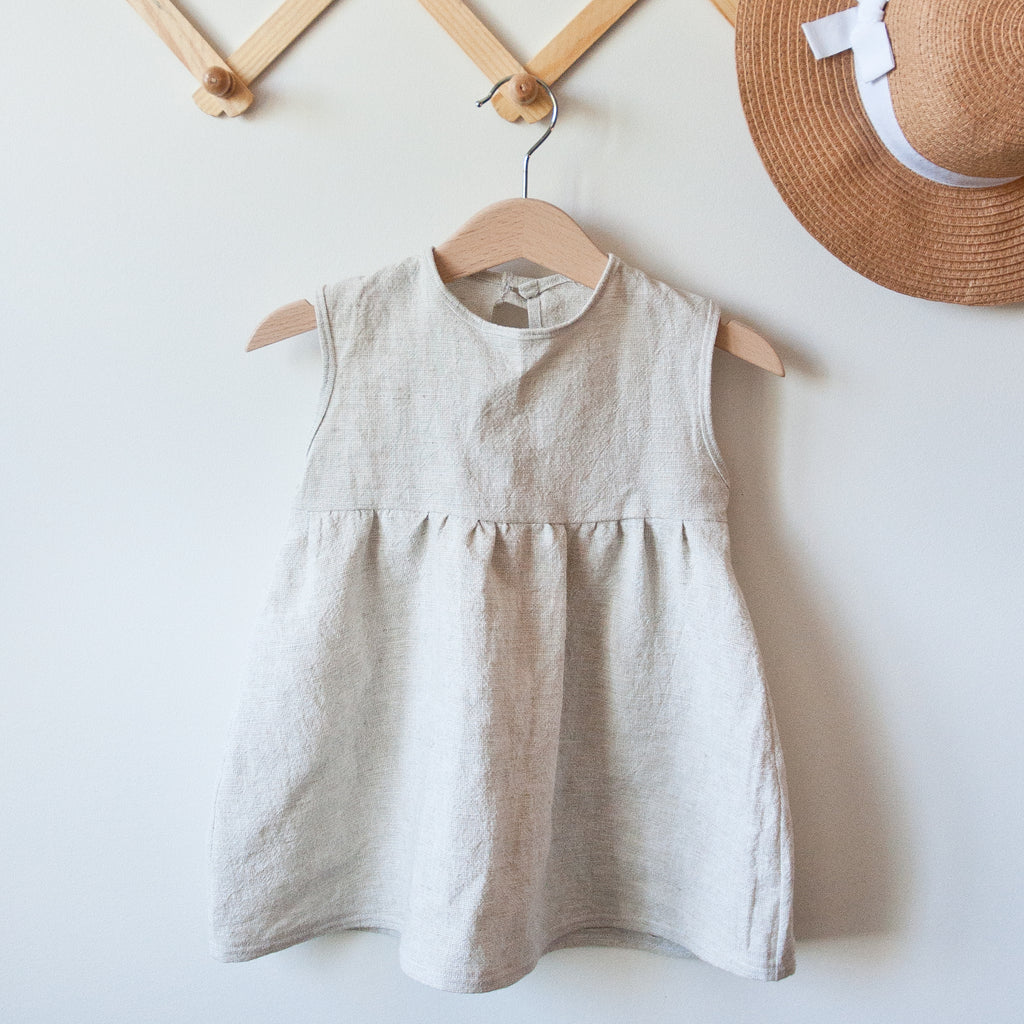 Cream Emery Linen Dress