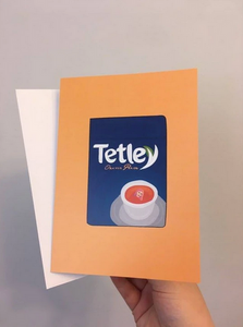Tetley Tea 5x7 Folded Blank Inside Card