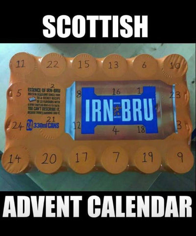 Things You Mainly See in Scotland, Gie it Laldy, Scottish Gifts,Irn Bru,Advent Calender,Scottish Culture,Glasgow Gift Shop