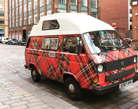 glasgow,glasgow gifts,scottish gifts,scottish culture,tartan,van,things you mainly see in scotland