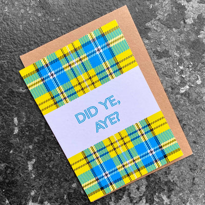 gie it laldy, gift shop, Glasgow, glasgow gifts, scottish cards, scottish greetings cards, glasgow cards, scottish patter, funny scottish gifts, funny scottish cards, scottish gifts