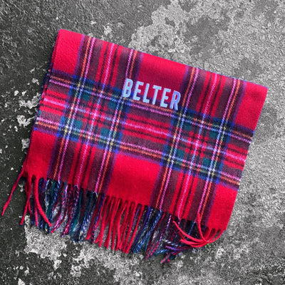 belter, Scottish, tartan scarf, gie it laldy, Scottish gifts, Glasgow gifts