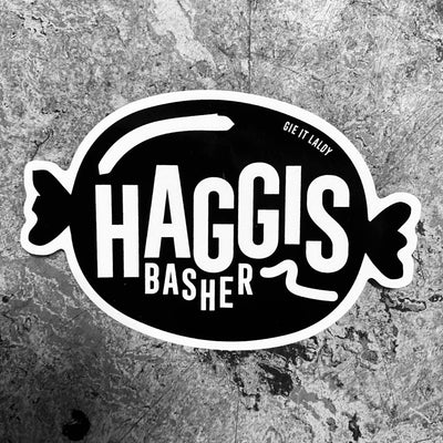 Gie it Laldy 'HAGGIS BASHER' Scottish Sticker
