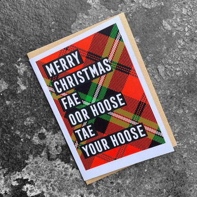 'Merry Christmas Fae Oor Hoose' Scottish Christmas Card