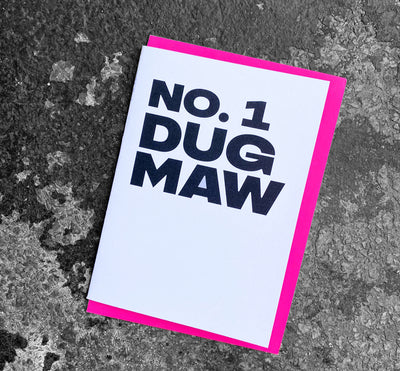 'No.1 Dug Maw' Scottish Card