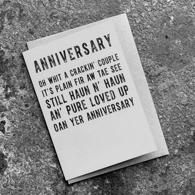 'ANNIVERSARY' Scottish Poetry Card