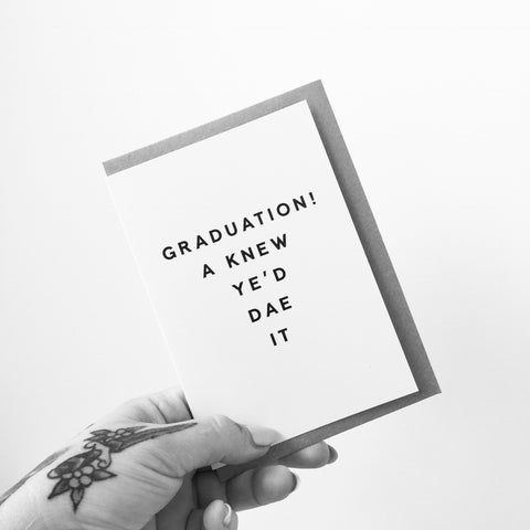 AA33 Graduation Card