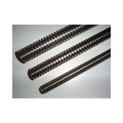 TRI24X5G Stainless Steel Trapezoidal Left Hand Spindle / Leadscrew DIN103 (AISI 316L) X2CrNiMo17.12.2