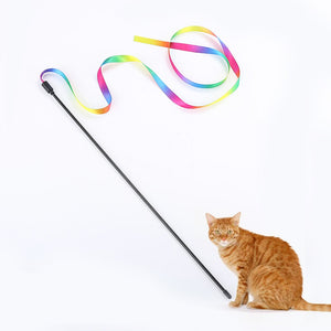 Rainbow streamer toy