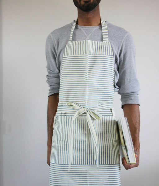 Chef Apron - Teal striped