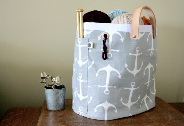 Knitting tote - Hey Sailor