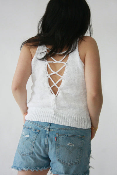 Swing lace-up tank