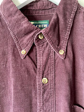 Load image into Gallery viewer, Purple corduroy men's shirt by Ivy Crew M