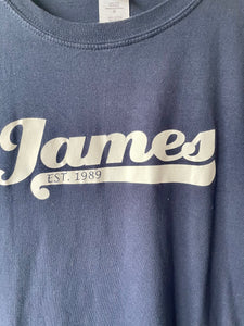 Navy blue James pre-worn ladies Tee shirt L