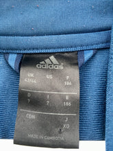 Load image into Gallery viewer, Blue/white Adidas track jacket. L
