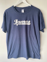 Load image into Gallery viewer, Blue James Tee shirt ladies L