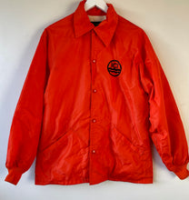 Load image into Gallery viewer, Bright orange vintage 1970s Starter jacket M