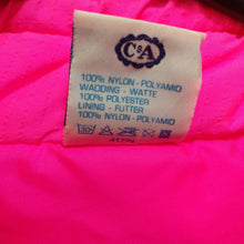 Load image into Gallery viewer, C and A neon pink 1980s vintage ski jacket. Oversize L/XL