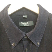 Load image into Gallery viewer, Navy blue vintage 1990s needlecord cord shirt L