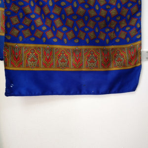 Light vintage 1960s blue patterned scarf