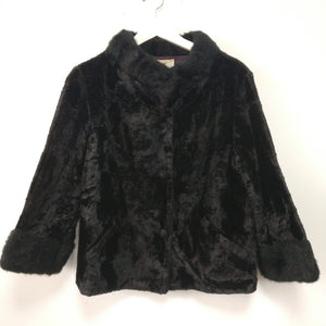 Vintage faux fur and velvet jacket by Winter