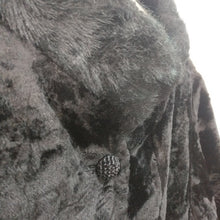 Load image into Gallery viewer, Vintage 1950s or early 1960s glamorous mod black faux fur jacket S