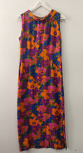 Load image into Gallery viewer, 1960s cotton funky flower dress