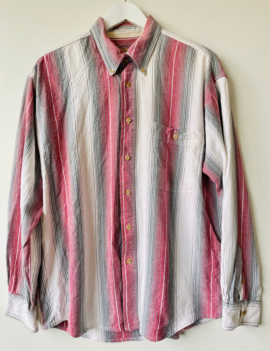 1990s men's striped shirt L