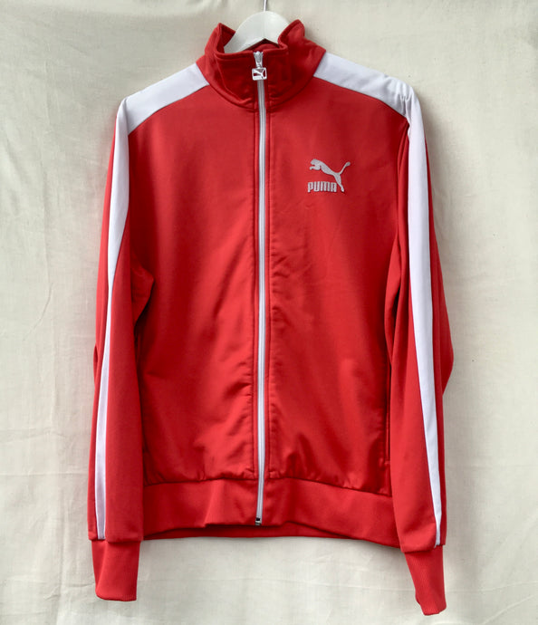 Red and white Puma jacket