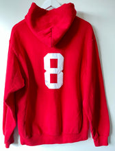 Load image into Gallery viewer, Red 'Spikes' logo hoodie M