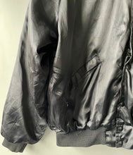 Load image into Gallery viewer, Vintage black American trucker bomber jacket by King Louie L