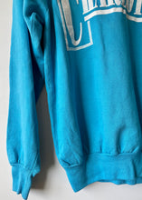Load image into Gallery viewer, Charlotte turquoise 1980s vintage sweatshirt M/L