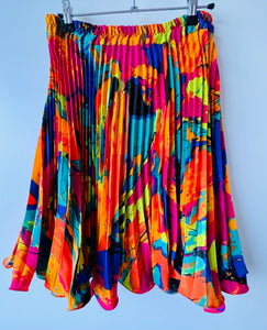 Tropical pleated skirt M/L