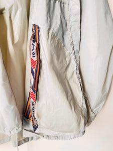 Grey 1990s vintage K-Way rain jacket Pac-a-Mac L