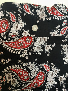 New Navy and red floral and paisley Relco shirt XL